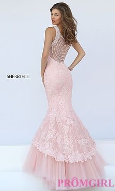 Sherri Hill Lace Mermaid Dress at PromGirl.com