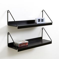 ARCHIVITA Wall-Mounted Metal Shelving Unit AM.Part of the ARCHIVITA collection, this wall-mounted metal shelving unit has a sleek, contemporary design and is a great space-saver. The metal.