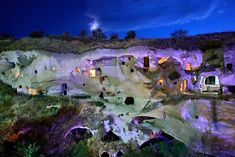 & 1 nights in Cappadocia' by Hercules Milas Travel Tours, Travel Destinations, Beautiful World, Beautiful Places, Still Of The Night, Cave Hotel, Capadocia, 1st Night, Night Time
