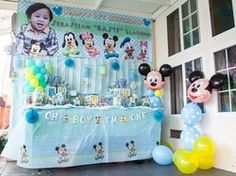 "Baby Mickey Mouse / Birthday ""Sebastian's first birthday"""