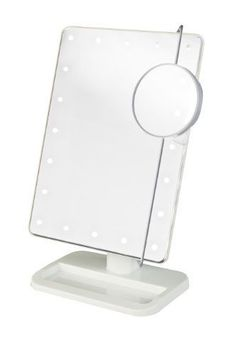 """LED Lighted Makeup Cosmetic Mirror 8"""" Portable Travel Vanity 1 10x Magnifying…"""