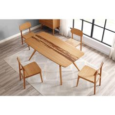 Azara Dining Table, Caramelized