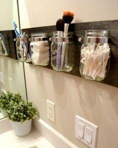 tarros de cristal para almacenar 8 http://decoracion.facilisimo.com/blogs/general/tarros-de-cristal-para-organizar-el-bano_1098137.html?aco=lp0&fba