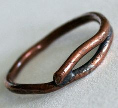 Rustic Organic Copper Ring by WabiBrookStudio on Etsy, $14.00