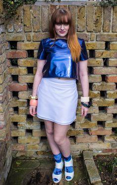 PVC Crop Top and Sporty Mini Skirt https://marketplace.asos.com/boutique/gemma-goldstone