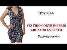 elongación Diy Vestido, Sewing, Formal Dresses, Clothes, Google, Youtube, Fashion, Dress Making, Blouse Patterns