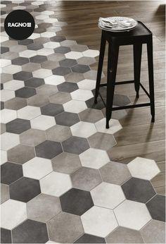 kitchen flooring Kche Bodenbelag Ideen f - Deco Design, Küchen Design, Floor Design, Tile Design, House Design, Interior Design, Design Ideas, Design Moderne, Hexagon Tiles
