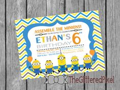 Printable Minions / Despicable Me / Birthday by TheGlitteredPixel