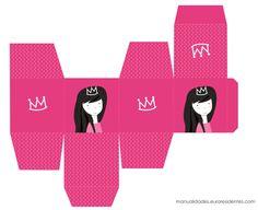 Princess Party. Cajas imprimibles de princesas. Puedes descargarlas gratis en: http://manualidades.euroresidentes.com/2013/04/cajas-imprimibles-de-princesas.html