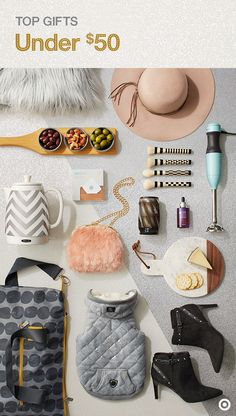 Make her Christmas one she'll never forget with gifts that anyone would covet. With a love of the luxurious, she'll be amazed by these on-trend picks, each under $50. Check out The Wonderlist Gift Guide and find something for everyone on your list, like an assortment of faux-fur throws and handbags, felt hats, and get-me-noticed booties for the trendsetter. And sleek serveware with trendy chevron, warm woods and cool marble for the entertainer. Whatever you get, it'll be a total score.