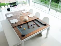 Steel pool table FUSIONTABLES METAL LINE Dining pools - Fusiontables Saluc