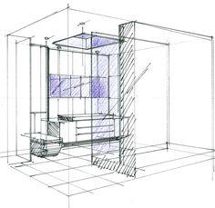 1000 images about perspectives et croquis en architecture. Black Bedroom Furniture Sets. Home Design Ideas