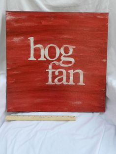 hog fan 18x18 hand painted canvas sign by thenotsoblankcanvas on Etsy