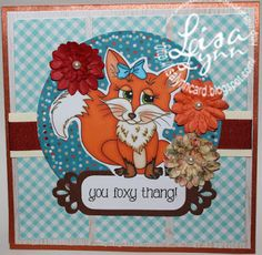 """New """"FOXY THANG"""" digi set released at www.imaginethatdigistamp.com"""