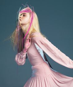 suicideblonde: Elle Fanning photographed by Pierre Debusschere for Bullett…