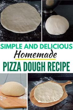 I can't believe how easy this homemade pizza dough is! Just five simple ingredients for the best pizza dough I've ever made. This makes two full size pizzas with the most delicious crispy crust! It's perfect for Friday Night pizza night. This no fail recipe is an absolute winner. #crispy #homemadepizza #pizzadough #pizza #simple #bestpizza