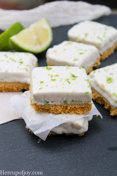 Healthy No Bake Key Lime Bars