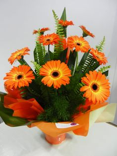 Mini Gerbera Arrangement in Bucket - $40.00 : The Fresh Flower ...