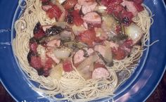 Sausage wine sauce pasta in #20minutes or less at theconservativemommyblog.com