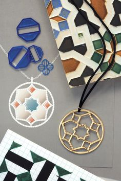 """""""I call this collection Zellige, the term for ceramic Moroccan tiles. Their rhythmic patterns are like wearable music."""" —Paloma Picasso #TiffanyPinterest"""