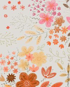 print & pattern: DESIGNER - dinara mirtalipova .... Simplistic flowers