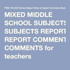 105 Best Reports Images Preschool Report Card Comments Report