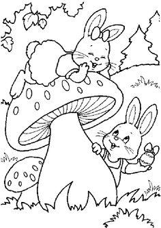 Coloriage lapin paques 2 sur Hugolescargot.com - Hugolescargot.com