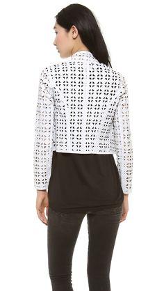Laser Cut Leather, Shrug Cardigan, Cardigans, Sweaters, Laser Cutting, Vests, Blazers, Turtle Neck, Leather Jacket