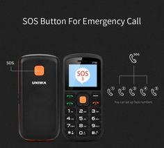 UNIWA V708 1.77 Inch 800mAh Charging Stand Dual SIM Dual Standby Torch One Key SOS Mobile Phone 5sos, Polish Language, Samsung Accessories, Italian Language, Dual Sim, Spanish, Phones, Smartphone, English