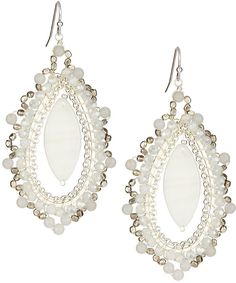 Nakamol Mother of Pearl Drop Earrings, White on shopstyle.com