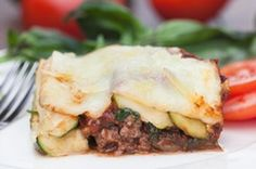 Zucchini Lasagna     2 1/2 lbs grass fed ground beef (browned)     1 red onion diced     4 cloves crushed garlic     2 tbsp dried oregano     2 tbsp dried basil     1/2 tsp cayenne pepper     1/2 tsp sea salt     2 tbsp olive oil     3 cups diced tomatoes     6 ounces tomato paste     1 cup black olives sliced     6 zucchinis thinly sliced     1 cup raw cheese, shredded    Layer ingredients, cover & bake at 350 for 30 min
