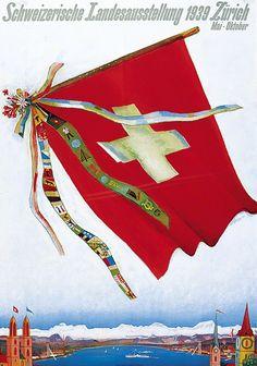 Carigiet, Alois poster: Swiss National Exhibition 1939 Zurich May-October Vintage Ski Posters, Retro Poster, Kunst Poster, Original Vintage, Valentino, Prints, Pictures, Exhibit, Festivals