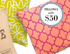 I pinned this from the Pillows Under $50 - Find the Perfect Pair for Your Sofa or Bed event at Joss and Main!