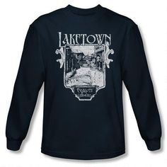 The Hobbit: The Desolation of Smaug Laketown Adult Navy Long Sleeve T-Shirt #HobbitShop
