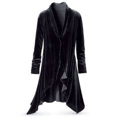 Midnight Velvet Jacket - New Age, Spiritual Gifts, Yoga, Wicca, Gothic, Reiki, Celtic, Crystal, Tarot at Pyramid Collection  $89.95