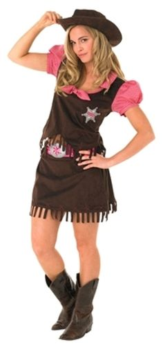 Womens Adult Cowgirl Country Western Costume Fancy Dress Up Party