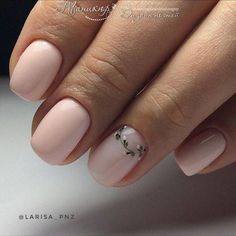 süße Nail Art Designs für kurze Nägel 2019 Seite 12 – Beauty Nails, You can collect images you discovered organize them, add your own ideas to your collections and share with other people. Cute Nail Art Designs, Accent Nail Designs, Minimalist Nails, Cute Nails, Pretty Nails, Pink Nails, My Nails, Romantic Nails, Short Gel Nails