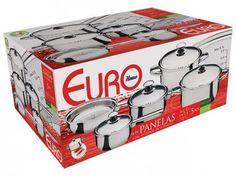 Conjunto de Panelas Inox 5 Peças - Euro Home SSM7938 com as melhores condições você encontra no Magazine Siarra. Confira!