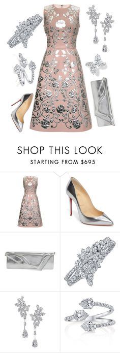 """""""Attending Birthday Party"""" by nmccullough ❤ liked on Polyvore featuring Dolce&Gabbana, Christian Louboutin and Harry Winston"""