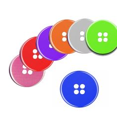 A Pack of 6 50mm Buttons Pattern weights Button Design for Sewing Patterns like on the TV Sewing Bee NEW by RICEMETALS on Etsy