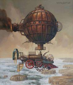 - Steampunk Airship Artwork - #Steampunk #SteampunkArt #Artwork #Airships  http://www.pinterest.com/TheHitman14/art-steampunk-%2B/