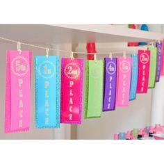 Gymnastics Tumbling Party Teen Tween Birthday Party Printable Collection