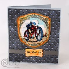 Motorbike card. Father's day 2014. Dee Dee, Porsche Logo, I Card, Fathers Day, Logos, Art, Happy Valentines Day Dad, Art Background, Father's Day