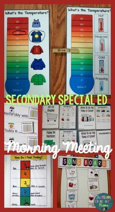 Secondary Special Education Morning Meeting Starter Kit has everything you need to get started with communication and functional skills. $