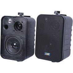 TIC CORPORATION ASP25-B 3-Way Indoor/Outdoor 50-Watt Speakers (Black)