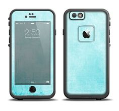 The Vintage Blue Textured Surface Apple iPhone 6/6s Plus LifeProof Fre Case Skin Set from DesignSkinz