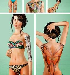 My Sims 3 Blog: Tattoos by Seventhecho