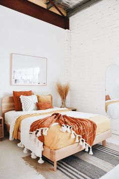 Home Interior Design Bedrooms.Home Interior Design Bedrooms Bedroom Inspo, Home Decor Bedroom, Bedroom Plants, Bedroom Inspiration, Budget Bedroom, Bedroom Furniture, Warm Bedroom, Bedroom Colors, Wicker Bedroom