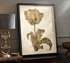 Gold Leaf Tulip Framed Print #potterybarn