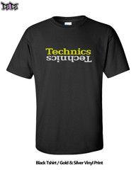 Technics Gold & Silver Double Logo DJ Tshirt | DJ4DJ -